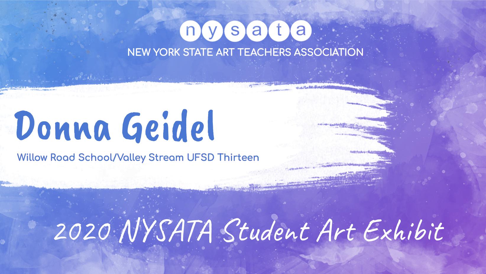 Donna Geidel Student Exhibit
